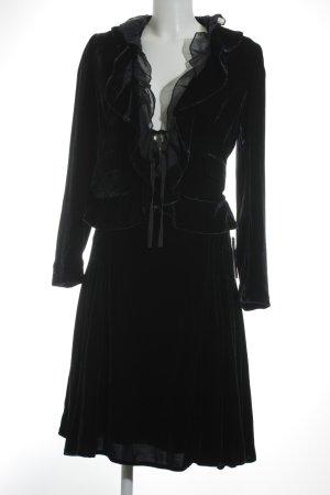 Mango Kostüm dunkelblau extravaganter Stil