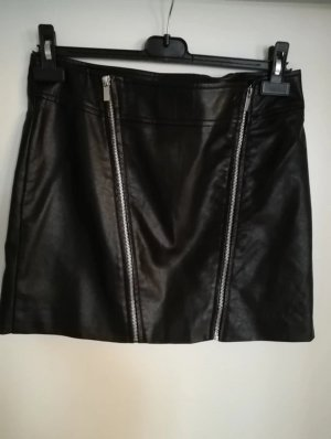 Mango Kunstleder High Waist Rock 38