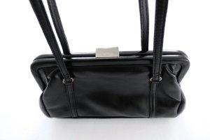 MANGO Kunstleder Pochette Clutch Satchel Bügel Henkel Tasche