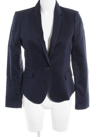 Mango Kurz-Blazer dunkelblau-weiß Business-Look