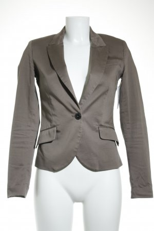 Mango Kurz-Blazer hellbraun Business-Look