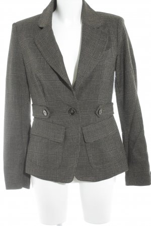 Mango Kurz-Blazer Karomuster Business-Look