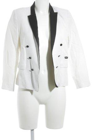 Mango Kurz-Blazer schwarz-weiß Elegant