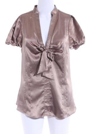 Mango Kurzarm-Bluse beige Casual-Look