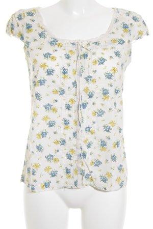 Mango Short Sleeved Blouse flower pattern romantic style