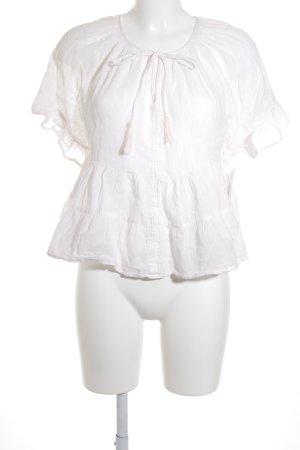 Mango Kurzarm-Bluse hellrosa schlichter Stil