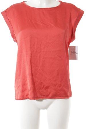 Mango Kurzarm-Bluse rot Elegant