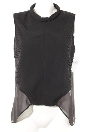 Mango Blouse met korte mouwen zwart elegant