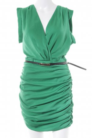 Mango Kurzarmkleid grün Casual-Look