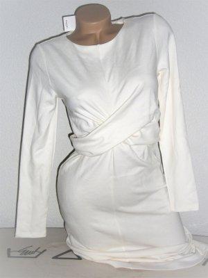 MANGO Langärmliges Wickelkleid mit Taillenband