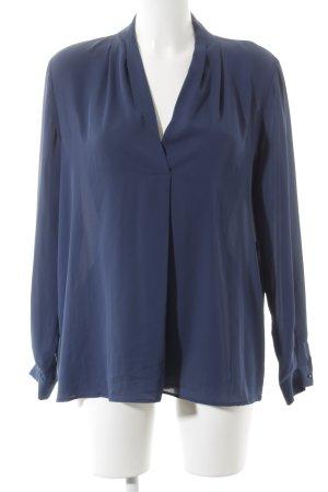 Mango Langarm-Bluse dunkelblau Casual-Look