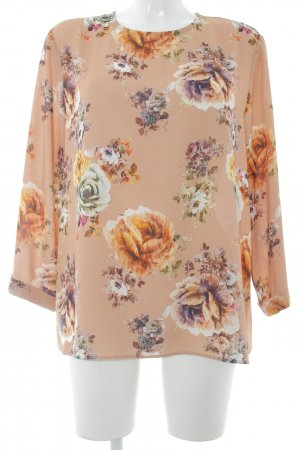 Mango Long Sleeve Blouse floral pattern casual look