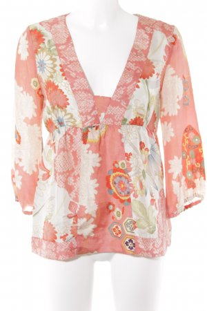 Mango Langarm-Bluse florales Muster Elegant