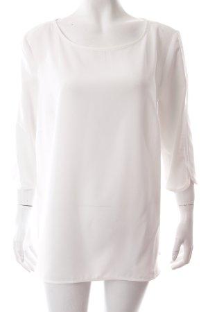 Mango Langarm-Bluse weiß