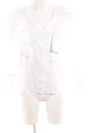 Mango Langarm-Bluse weiß Elegant