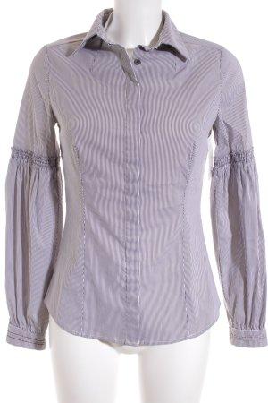 Mango Langarm-Bluse weiß-grau Casual-Look