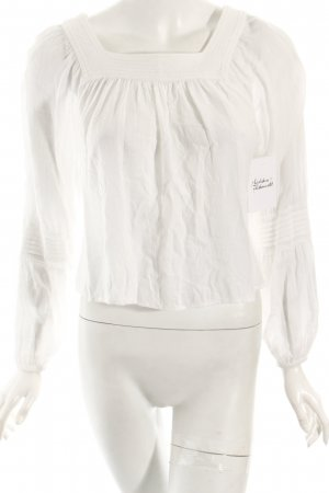 Mango Langarm-Bluse weiß klassischer Stil