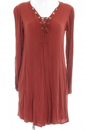 Mango Longsleeve Dress russet Boho look