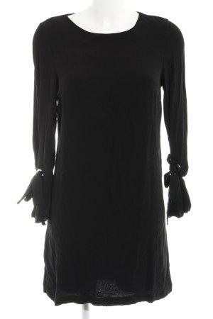 Mango Langarmkleid schwarz schlichter Stil