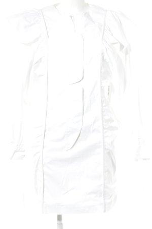 Mango Langarmkleid weiß Elegant