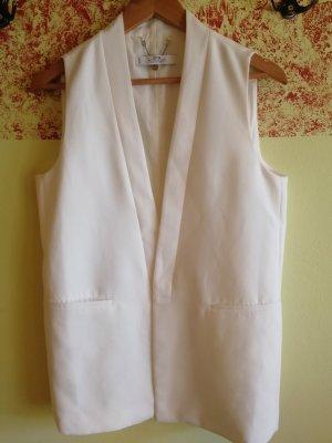 Mango Suit Waistcoat white