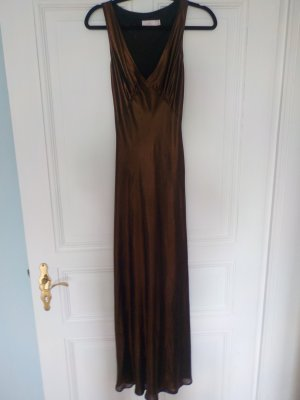 Mango langes Abendkleid in bronze