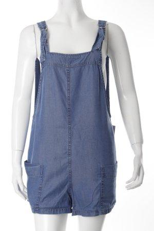 Mango Latzhose blau Jeans-Optik