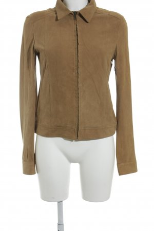 Mango Leather Blazer light brown casual look