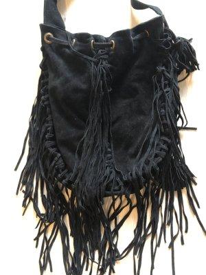 Mango Fringed Bag black