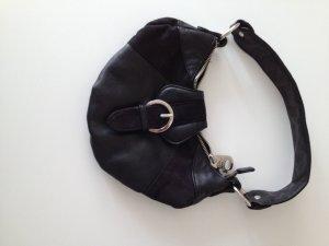 Mango Leder Imitat Tasche schwarz