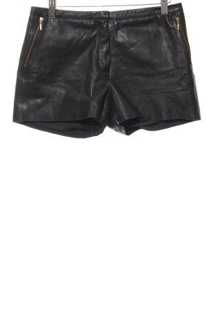 Mango Leren broek zwart casual uitstraling