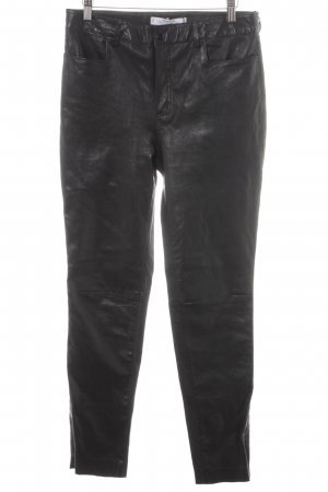 Mango Pantalone in pelle nero stile casual