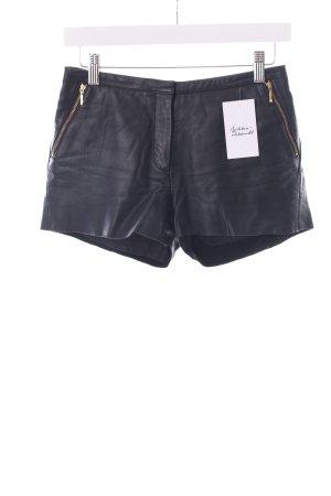 Mango Lederhose schwarz klassischer Stil