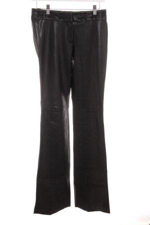 Mango Pantalone in pelle nero stile da moda di strada