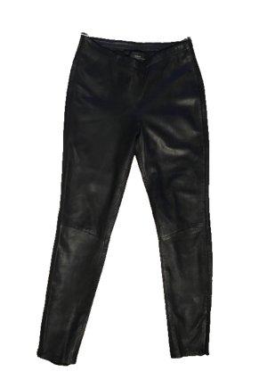 Mango Pantalone in pelle nero Pelle