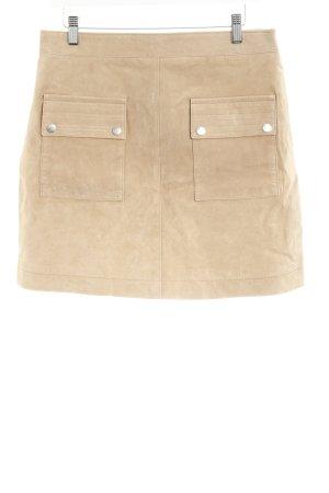Mango Leather Skirt cream casual look
