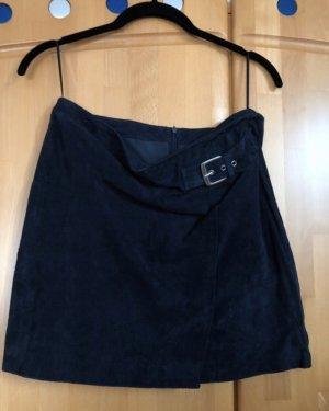 Mango Lederrock Leder blau S