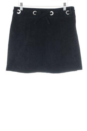 Mango Lederrock schwarz schlichter Stil