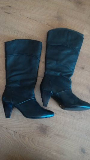 Mango High Boots anthracite leather