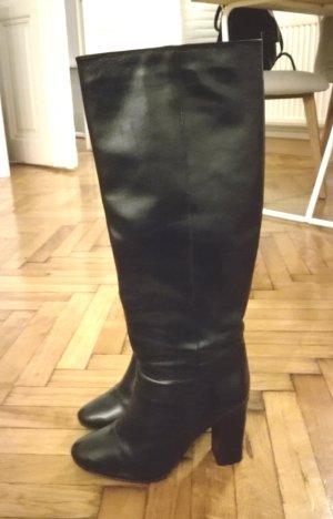Mango Jackboots black leather