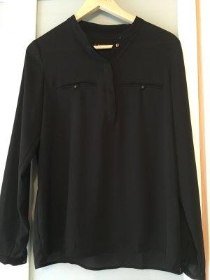 Mango Basics Slip-over blouse zwart