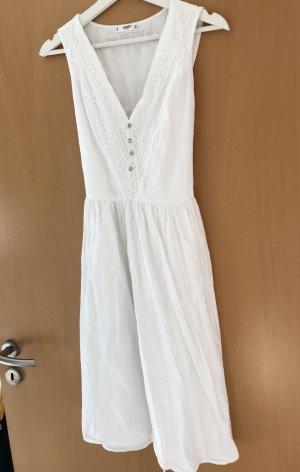Mango Midi Dress white-natural white