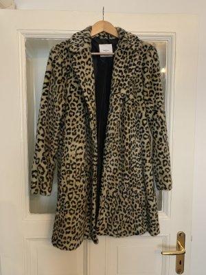 Mango Fake Fur Coat multicolored