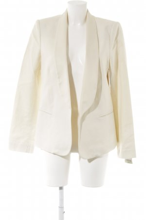 Mango Long-Blazer creme Business-Look