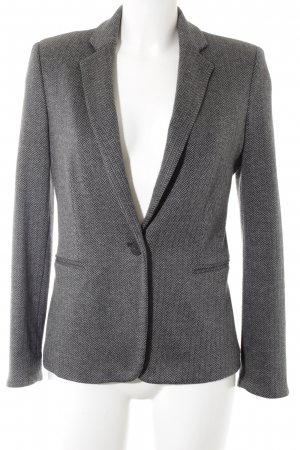 Mango Long-Blazer grau-schwarz Fischgrätmuster Business-Look
