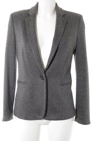 Mango Blazer long gris-noir motif à chevrons style d'affaires