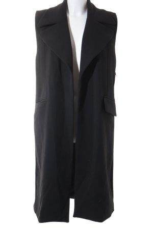 Mango Long-Blazer schwarz schlichter Stil