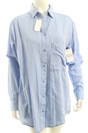Mango Long-Bluse kornblumenblau Casual-Look