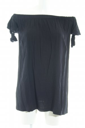 Mango Long-Bluse schwarz Casual-Look