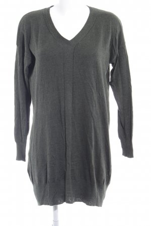 Mango Long Sweater dark green-green grey flecked casual look